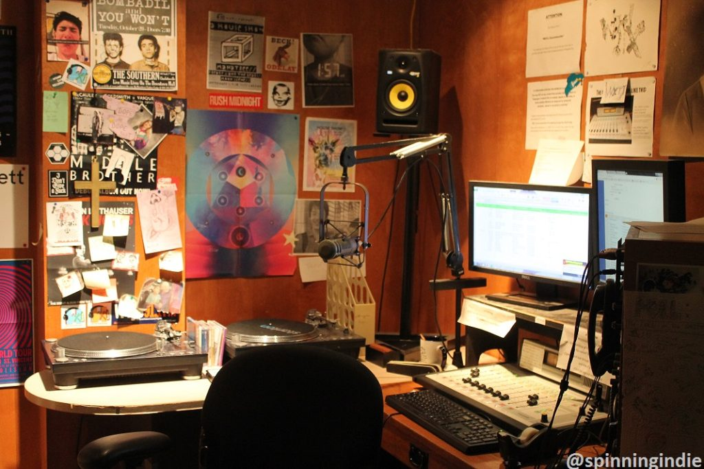 College radio station WXTJ's studio. Photo: J. Waits