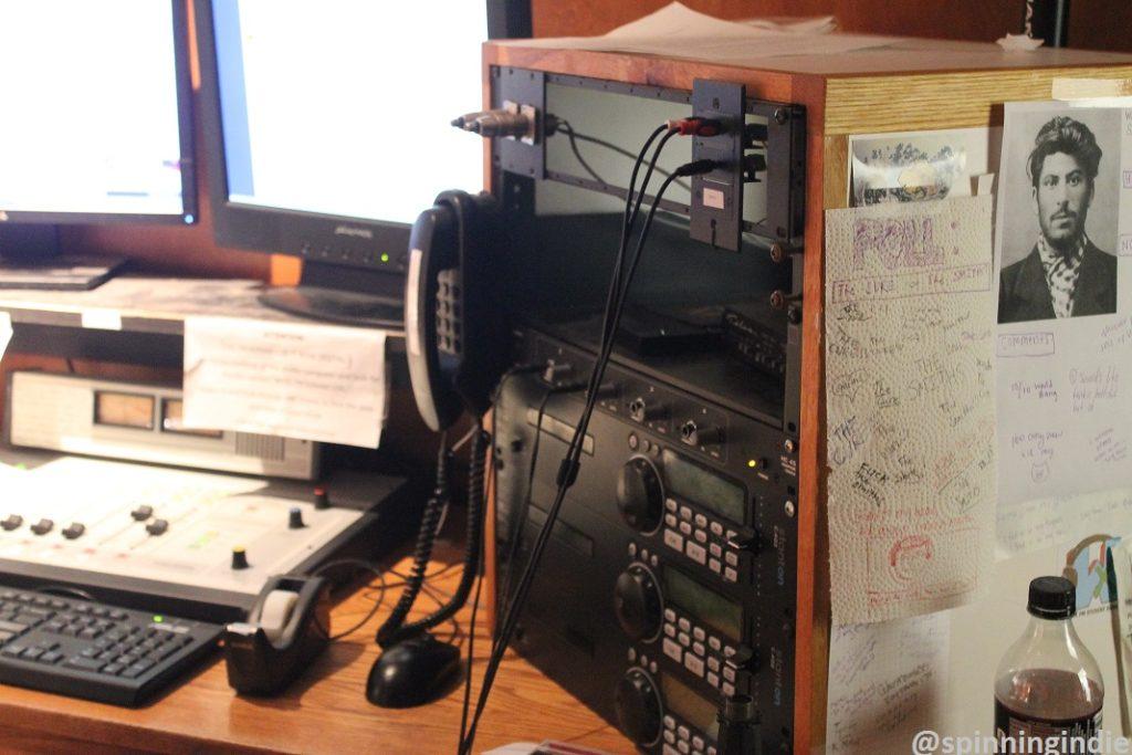 CD players, equipment in WXTJ studio. Photo: J. Waits