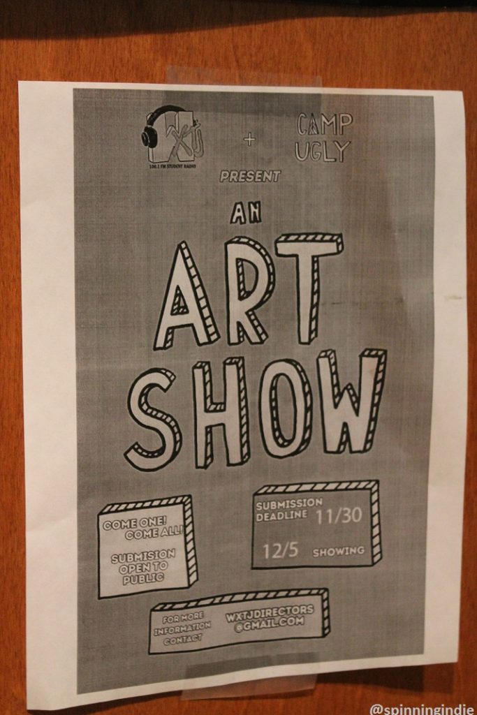 Flyer for WXTJ Art Show. Photo: J. Waits
