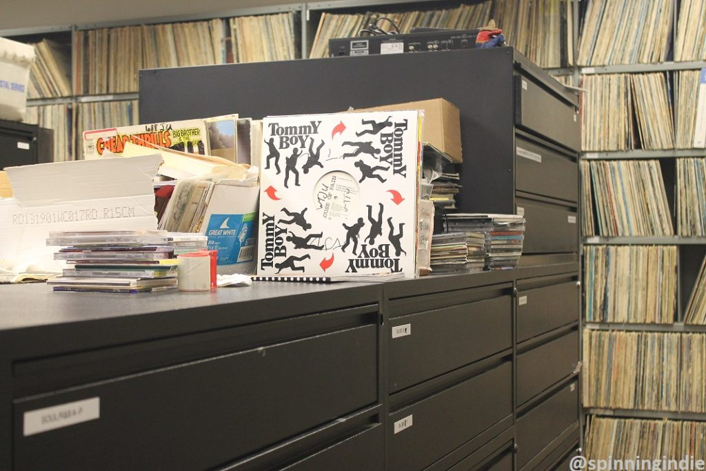 WTJU record library. Photo: J. Waits