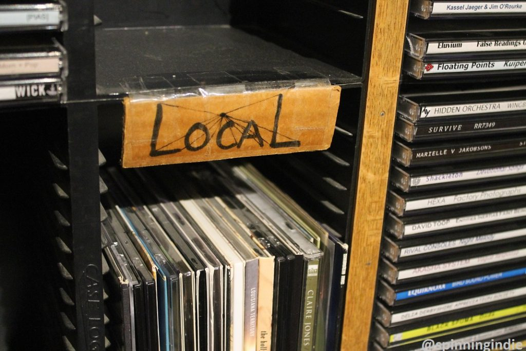 Local CDs in WDCE studio. Photo: J. Waits
