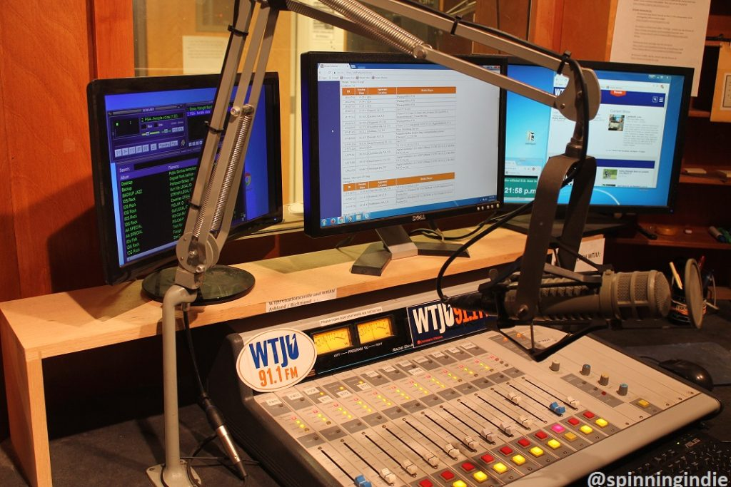 WTJU studio. Photo: J. Waits