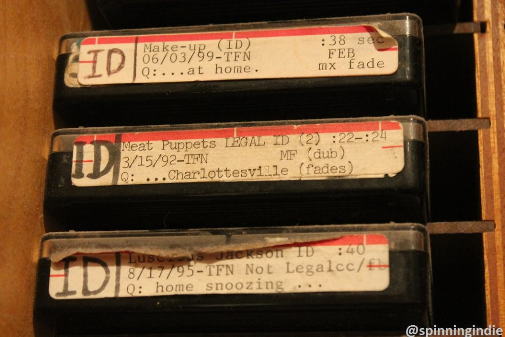 1990s carts in WTJU studio. Photo: J. Waits