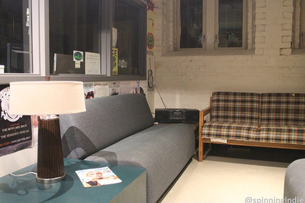 Lounge area at WDCE. Photo: J. Waits