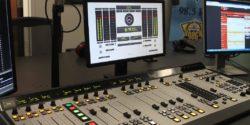 College radio station WNUW-LP studio. Photo: J. Waits