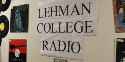 Lehman College Radio sign. Photo: J. Waits