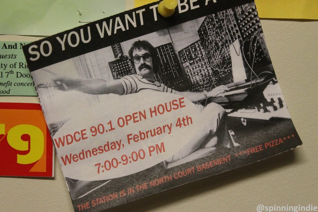 Postcard for WDCE open house. Photo: J. Waits