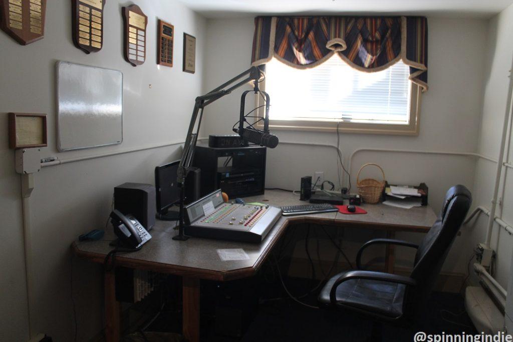 Studio at WUVA in 2017. Photo: J. Waits