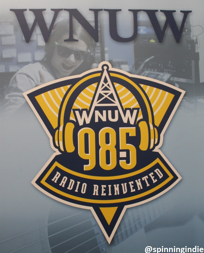 WNUW banner at Neumann Media. Photo: J. Waits