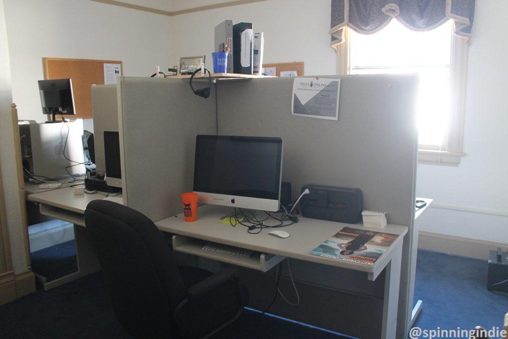 WUVA newsroom. Photo: J. Waits