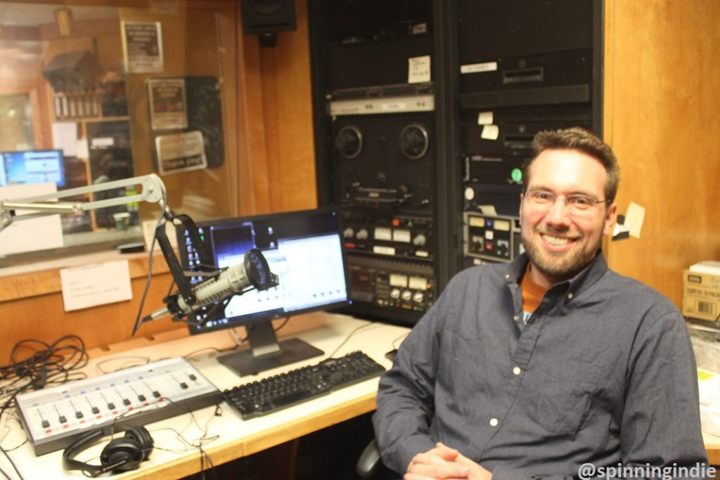Nathan Moore in one of WTJU's studios. Photo: J. Waits