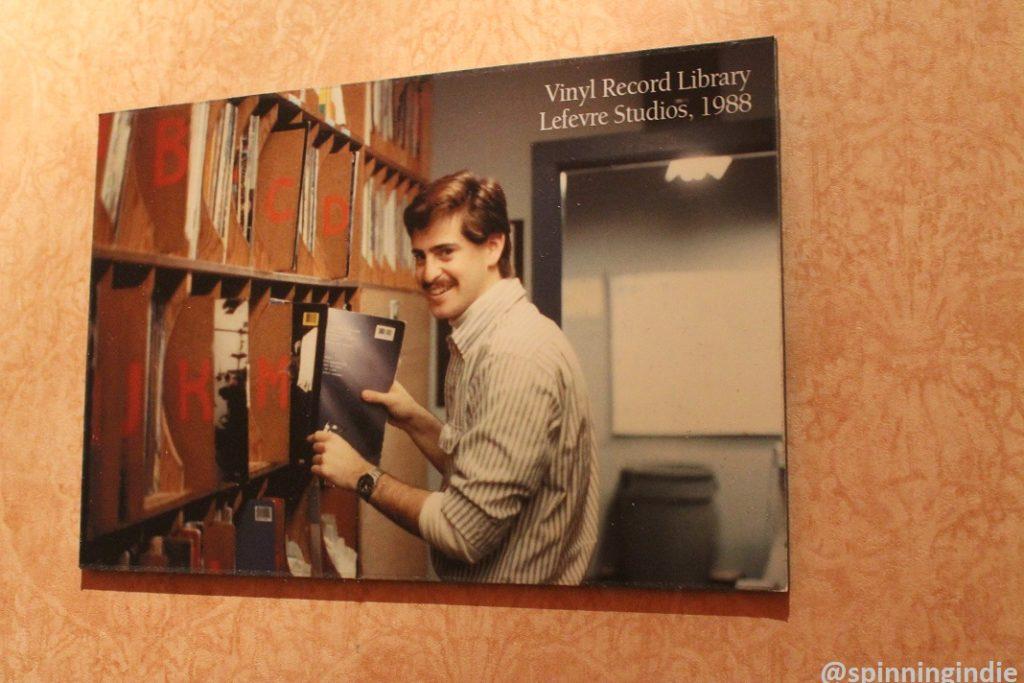 1988 photograph on the wall at WUVA. Photo: J. Waits