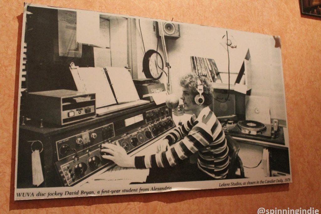 1979 WUVA photo on the wall at WUVA. Photo: J. Waits