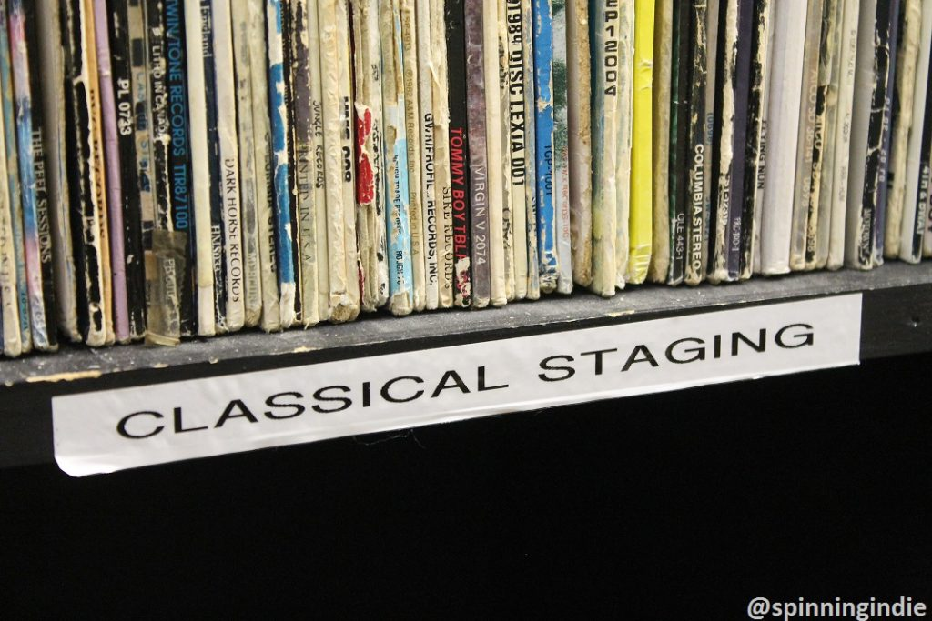 Classical LPs at WTJU. Photo: J. Waits