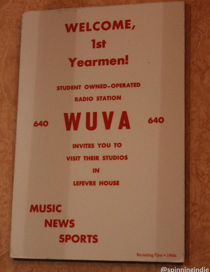 1960s WUVA recruitment flyer on wall at WUVA. Photo: J. Waits