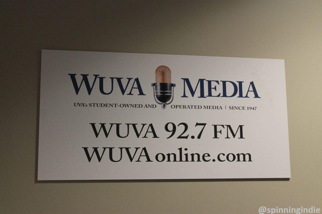 WUVA Media sign at WUVA. Photo: J. Waits