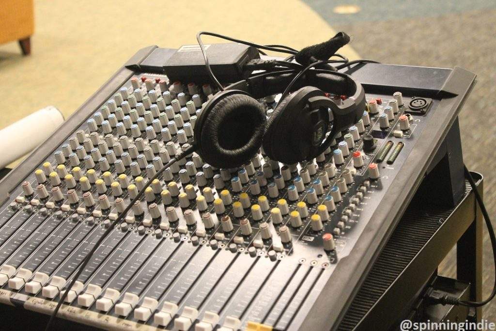 Sound board for WTJU's live session. Photo: J. Waits