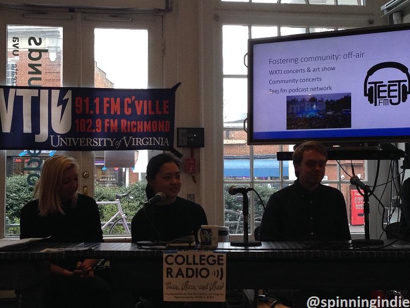 WXTJ staffers at College Radio Symposium. Photo: J. Waits