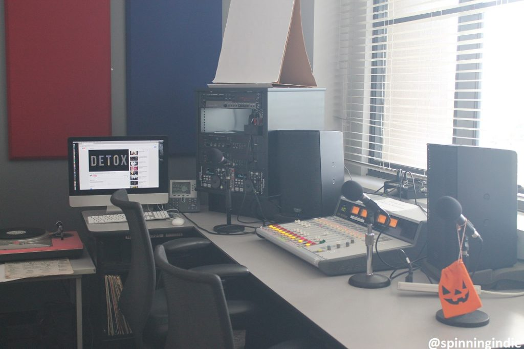KLMU studio. Photo: J. Waits