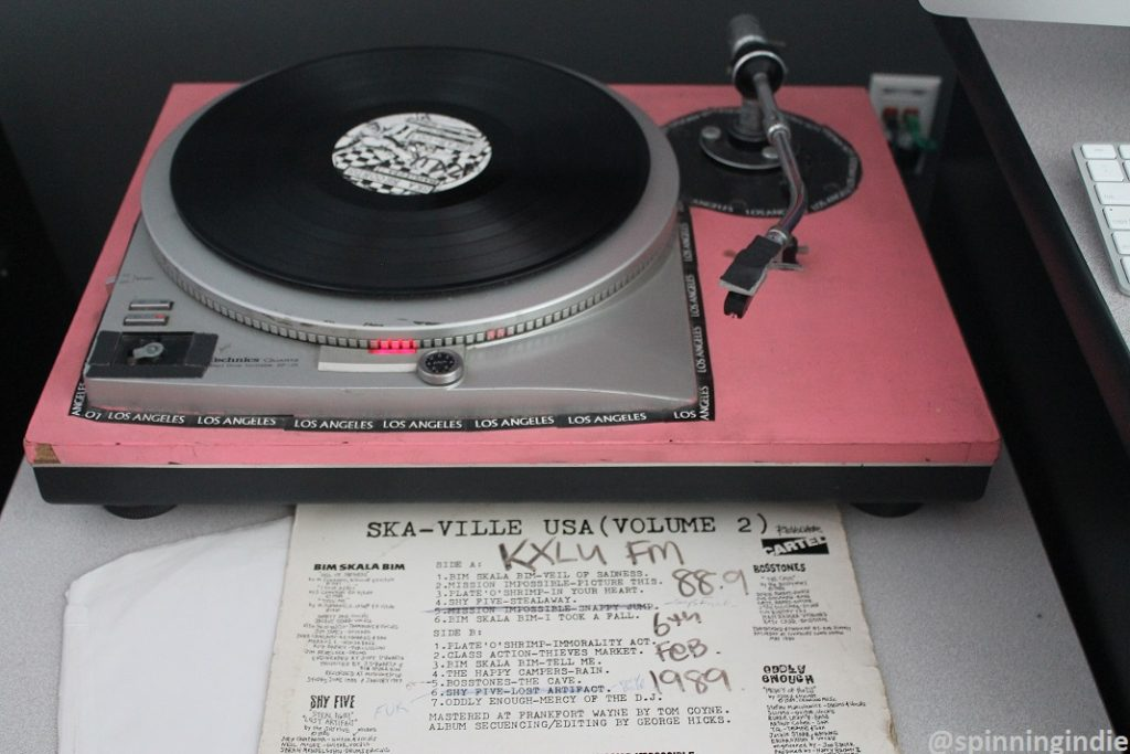 Turntable in KLMU studio. Photo: J. Waits