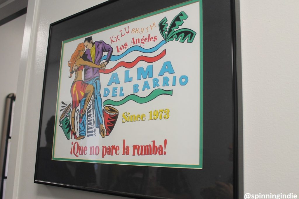 Alma del Barrio poster on wall outside KXLU. Photo: J. Waits