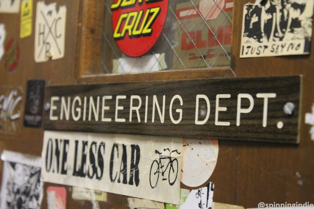 Engineering Dept. sign at WKDU. Photo: J. Waits