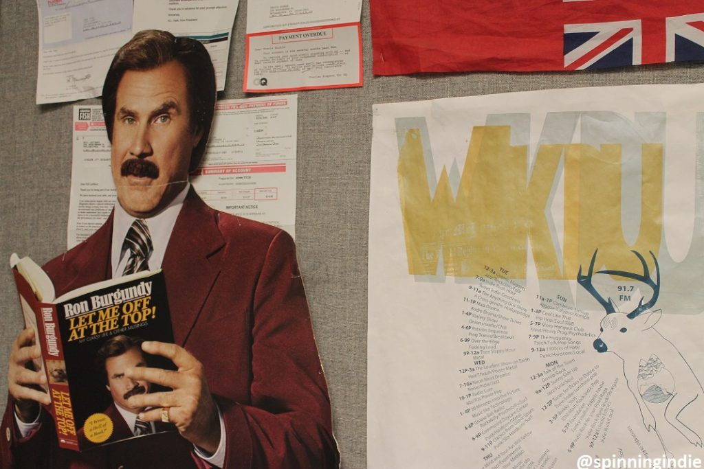 Ron Burgundy at WKDU. Photo: J. Waits