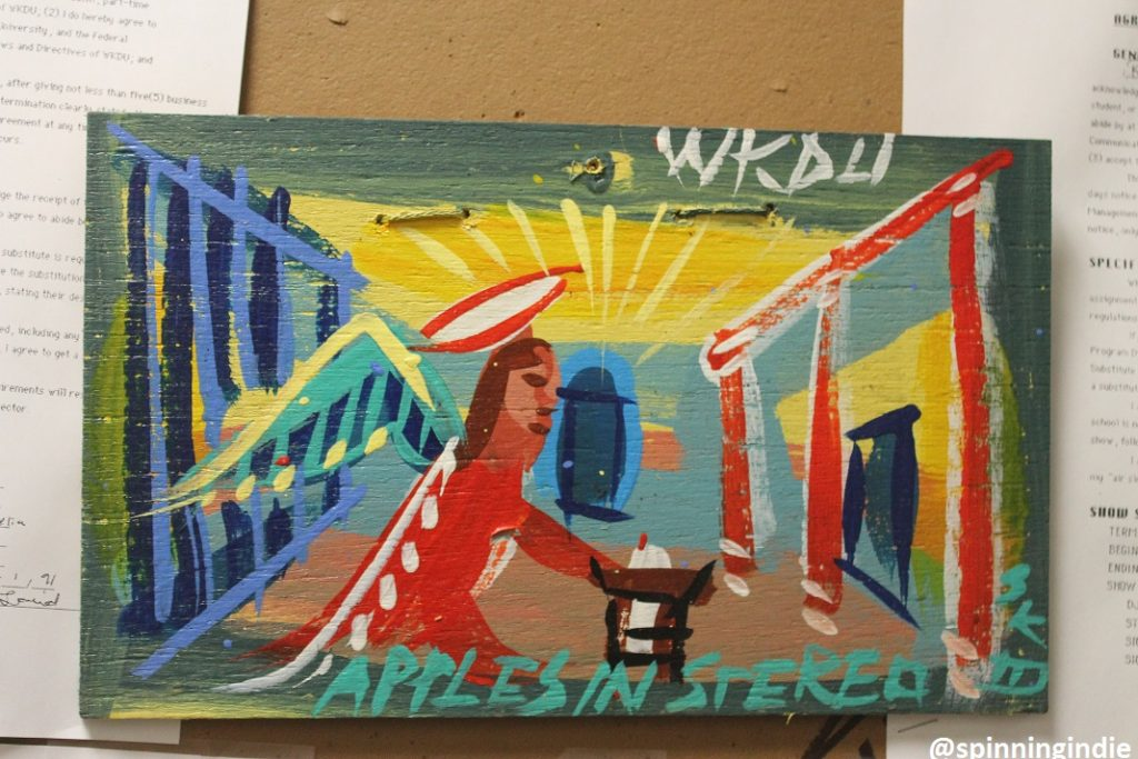 "Steve Keene ""Apples in Stereo"" painting at WKDU. Photo: J. Waits"
