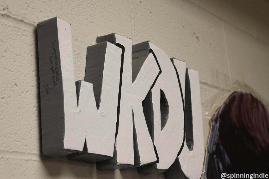 Leo Blais WKDU sign. Photo: J. Waits