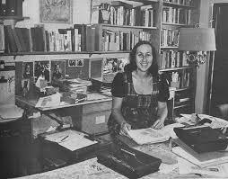 Mae Brussell at work.