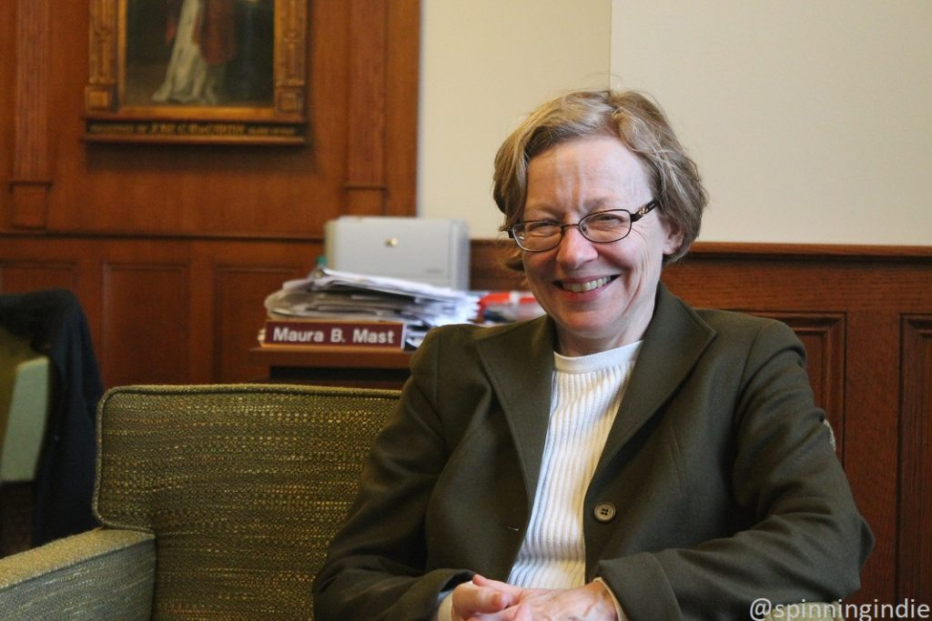 Dean Maura Mast in her office at Fordham University. Photo: J. Waits