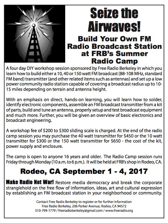 Free Radio Berkeley Radio Camp