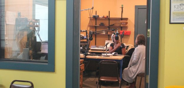 Studio at LPFM community radio station KLLG-LP. Photo: J. Waits/Radio Survivor
