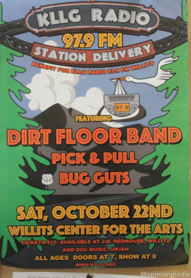 "Poster from ""station delivery"" party for KLLG. Photo: J. Waits/Radio Survivor"