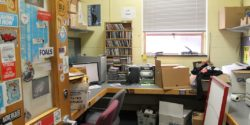 college radio station WTBU office