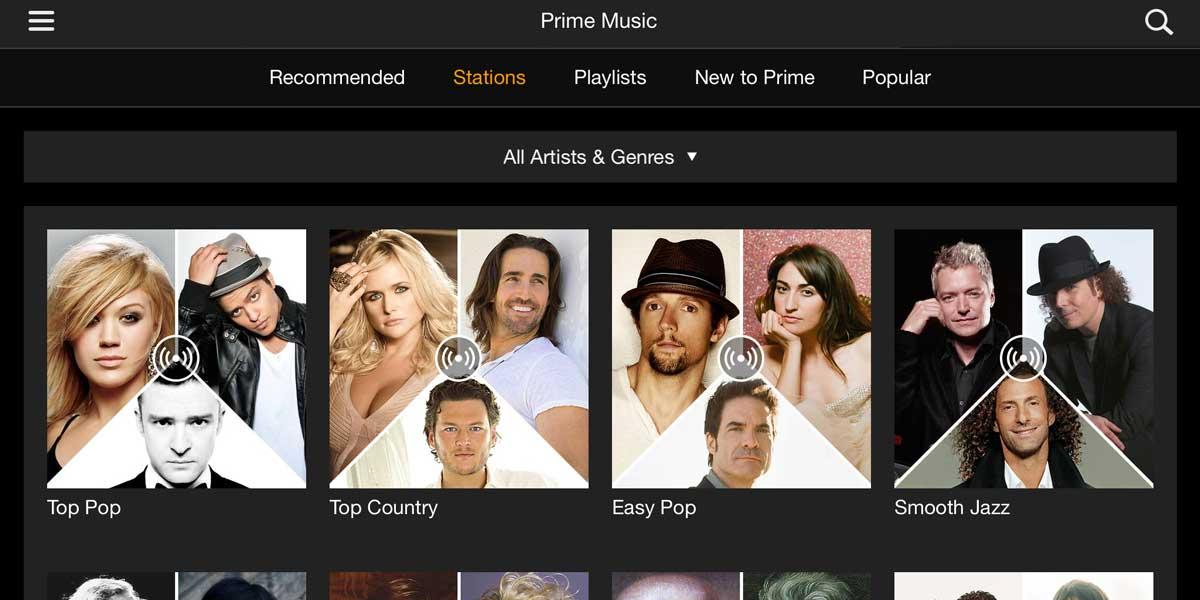 Amazon Prime Music Radio