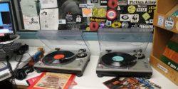 On-air studio at college radio station KSPC. Photo: J. Waits