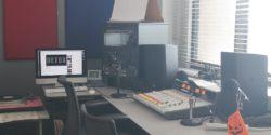 Studio at college radio station KLMU. Photo: J. Waits