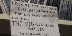 CDs at college radio station WKDU. Photo: J. Waits