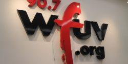 WFUV sign. Photo: J. Waits