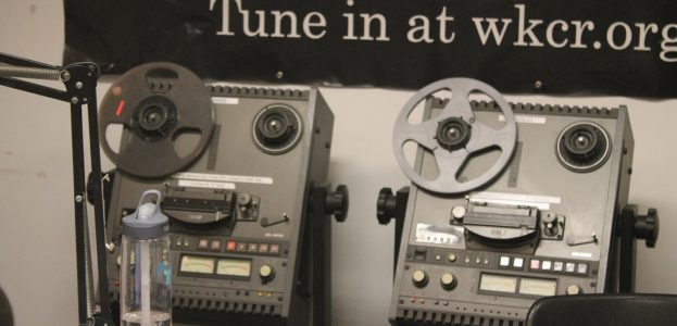 Studio in college radio station WKCR. Photo: J. Waits
